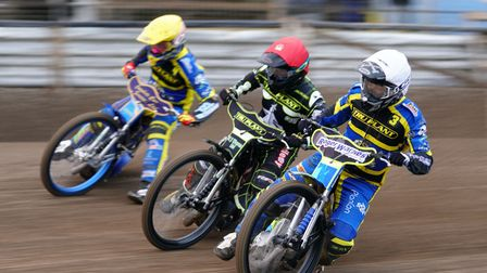 Heat three action with Danny King the Witch between Sheffield pair Kyle Howarth and Troy Batchelor.