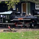 The steam train at Audley End Miniature Railway.