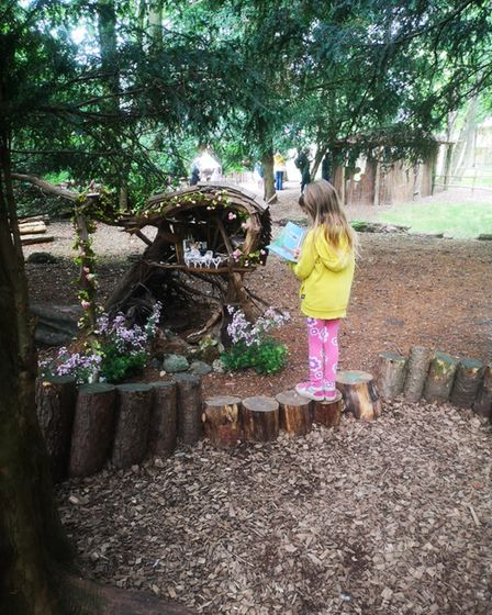 The fairy trail at Audley End Miniature Railway.