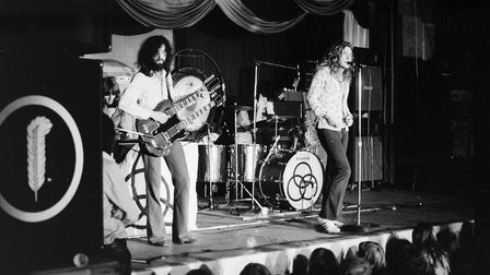 Nigel Rea's photos show how small the stage was for Led Zeppelin's gig at St Matthew's Baths Hall in Ipswich in 1971