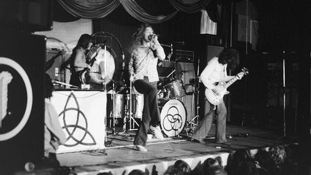 Nigel Rea smuggled in his camera to photograph Led Zeppelin's famous gig at the Baths Hall, Ipswich, in November 1971