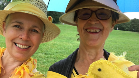 Vicky Wyer and Gilly Chegwyn of 'What if Craftivists'