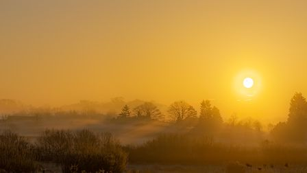 Sunrise Over Hartwood by Gerry Kelly.