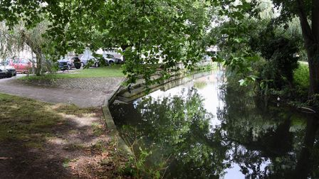 The Little Ouse River where police were working as a body was found near the Riverside Leisure Compl