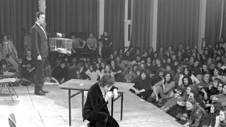 Monty Python performing at the UEA in Norwich in 1972.