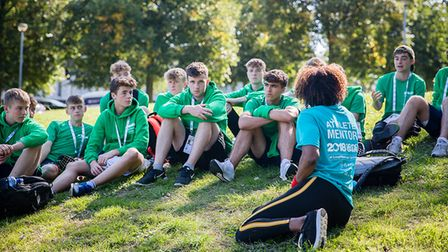 Athlete Mentors supporting School Games National Finals athletes