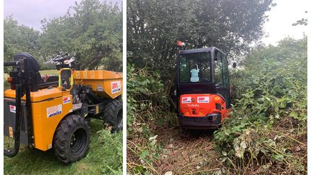 A stolen mini digger and dumper were located on Thursdayin Murrow after they were stolen two days earlier.