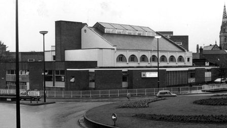 St Matthew's Baths Hall from Berners Street in the 1970s