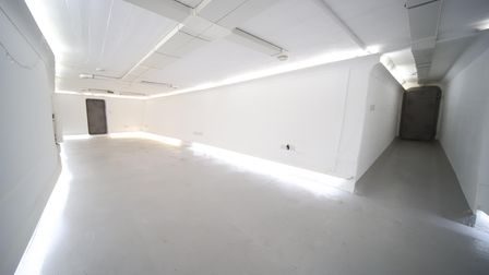 The vast space could be used as a home office or a music room, gym,storage