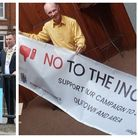 Banners against incinerator row at Wisbech