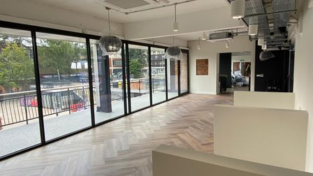 A break-out space at the new Co-Space in Stevenage