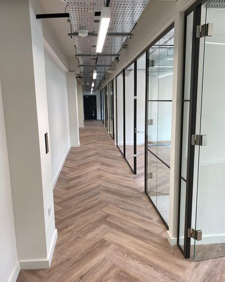 A corridor at the new Co-Space in Stevenage