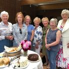 Saffron Walden and District Flower Club members with theirafternoon tea