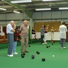 Action from Kingsley Indoor Bowls Club