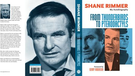 The cover of Shane Rimmer's autobiography From Thunderbirds to Pterodactyls