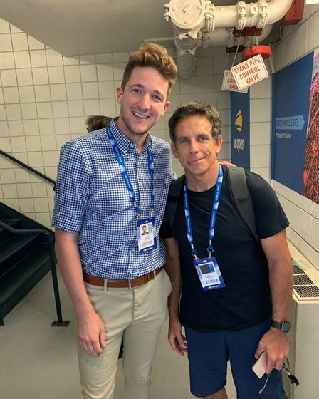 A chance meeting with Ben Stiller at the 2019 US Open