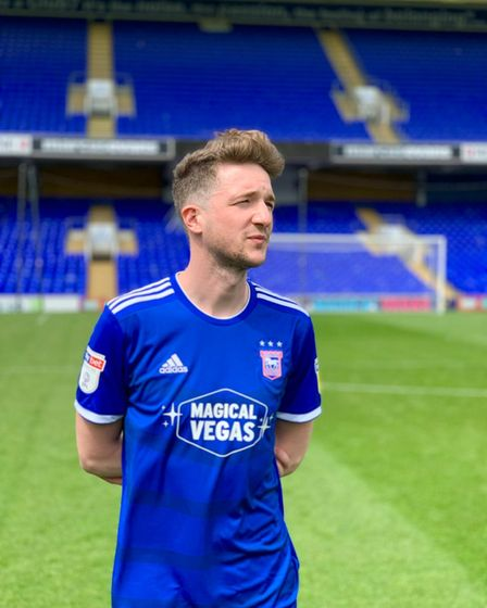 Ipswich Town fan James worked with the club for the launch of one of its kits
