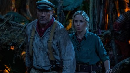 Dwayne Johnson is Frank Wolff and Emily Blunt is Lily Houghton in Disney's Jungle Cruise.