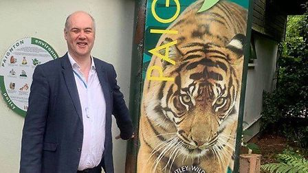 Andrew Barrand who was with a party of Torbay councillors on a visit to Paignton Zoo