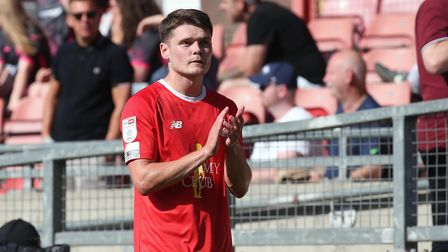 Connor Wood of Leyton Orient during Leyton Orient vs Exeter City, Sky Bet EFL League 2 Football at T