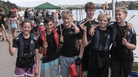 Brixham under-14 crew looking pleased with themselves.