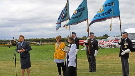 There were standard bearers and a service at the show.