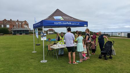 One of the Safer Seals stalls set up during North Norfolk District Council's recent campaign.