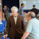 Charlie Watts speaking with residents Dolton Village Hall reopening in 2011