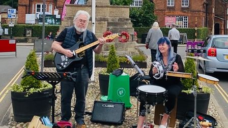MusiciansClive and Gwenyth King were a popular attraction at the latest Holt Sunday Market.