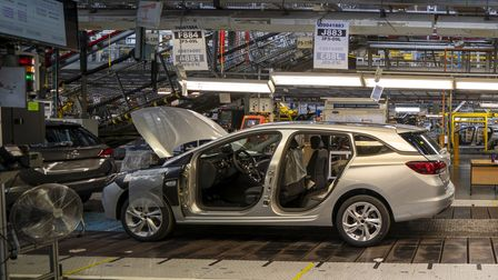 The Astra assembly line at Vauxhall's plant in Ellesmere Port, Cheshire.