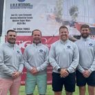 Team DMH face the camera at Weston Golf Club's Captain's Charity Day