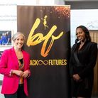 Daisy Cooper MP and Shelley Hayles at theBlackFuturesevent held atSt Albans Museum+ Gallery.