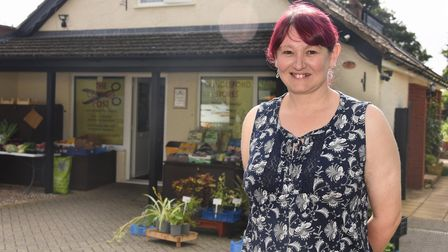 Jo Foulger who has been awarded the British Empire Medal for her work at the Cringleford Stores duri