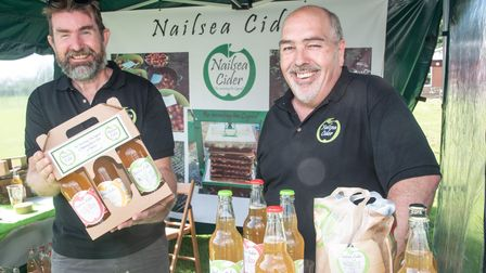 Paul Anderson and Mike Jones from Nailsea Cider at Trendlewood Community Festival.