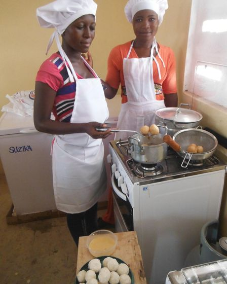 Catering students at theWulugu charity project in Norwich