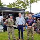 Catching up with the army and navy recruitment teams at the Royal Dartmouth Regatta.