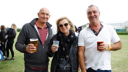 Basstonbury - Andy, Alison and Mark enjoy a drink.Picture: Karyn Haddon