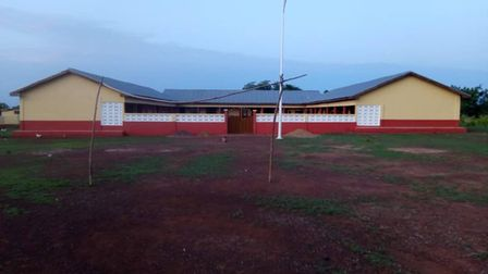 A repaired school through Lynne Symond's Ghanaian project