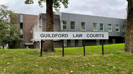 Guildford Law Courts where Dane Messam has appeared at the Magistrate's Court charged with murder