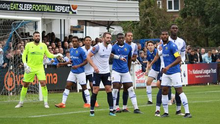 Wealdstone in action against Southend United in the National League