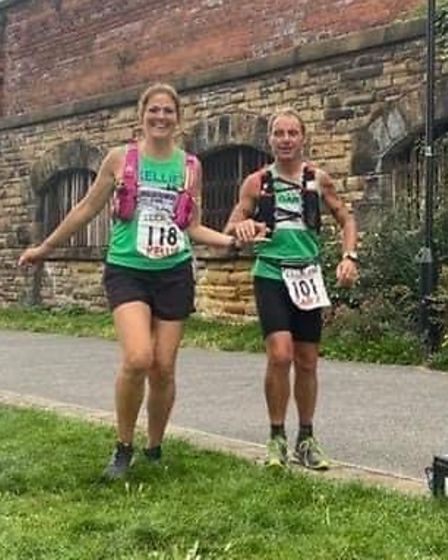 Kellie Judd and Gary Barnes of Riverside Runners completed the Liverpool to Leeds 130-mile canal race.