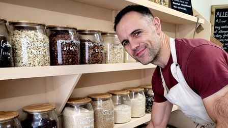 Martin Cooper the owner ofThe Refill Shop Ikigai in St Ives.