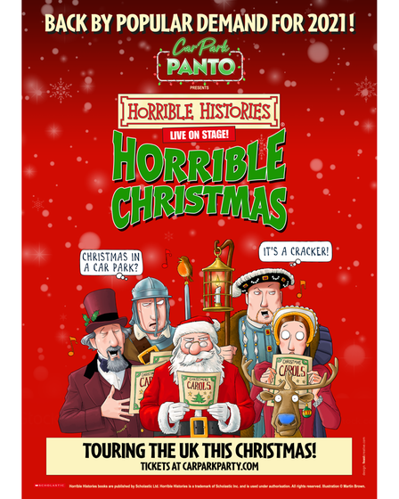 Car Park Panto is returning this Christmas with Horrible Histories presenting Horrible Christmas at IWM Duxford.