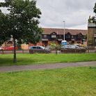 The site of the proposed kiosk on Christ Church Green