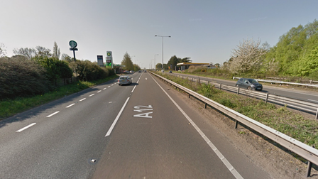 A single lane closure was in place on the A12 near Capel St Mary after a crash involving two vehicles