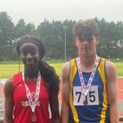 Olivia Boachie and Patrick McLean-Tattan with their South of England medals
