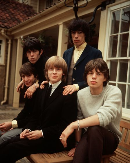 The Rolling Stones in 1964 - from left to right Charlie Watts, Keith Richards, Brian Jones, Bill Wyman and Mick Jagger.