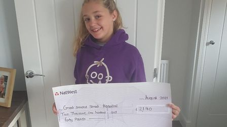 Ten-year-old Lexi-Louise Blow held a charity event to raise money for Great Ormond Street Hospital onAugust 13.