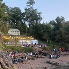 Fishcombe Cove over the bank holiday weekend.