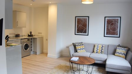 Inside one of the new flats which have been developed by Richard Wormwell in Crown House in Great Ya